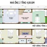 Bản vẽ nhà 2 tầng có gác lửng mang đến sự tiện nghi cho các hộ gia đình