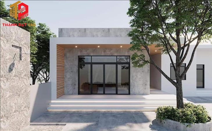 50+ mẫu nhà cấp 4 mái bằng giá rẻ, hiện đại, đẹp, đơn giản