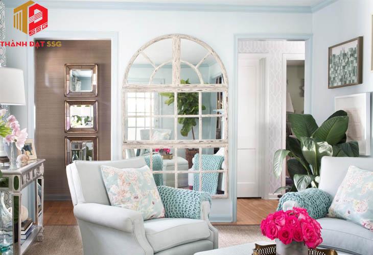 Sử dụng gương để mở rộng không gian nhà nhỏ
