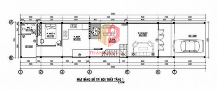mẫu thiết kế nhà ống 2 tầng 5x20m