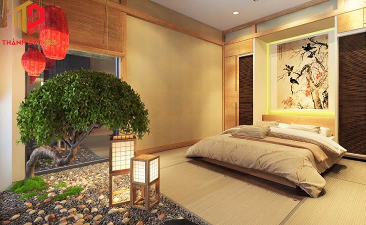 Thiết kế phòng ngủ nội thất Nhật Bản