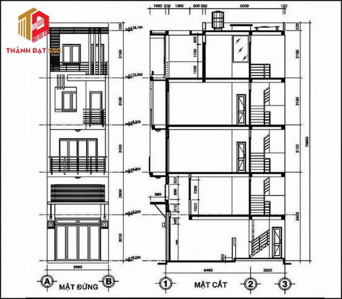 thiết kế nhà diện tích nhỏ 30m2