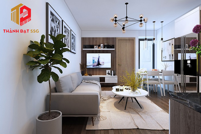 thiết kế nội thất nhà chung cư 70m2
