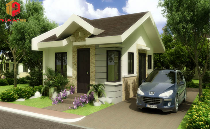 Các mẫu thiết kế nhà vuông 1 tầng 8x9m