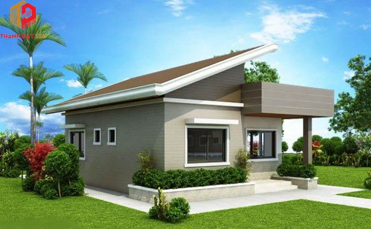 Các mẫu thiết kế nhà vuông 1 tầng 10x10m