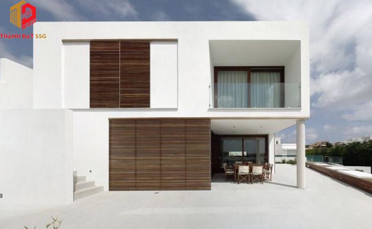 Mẫu thiết kế nhà vuông 2 tầng 80m2