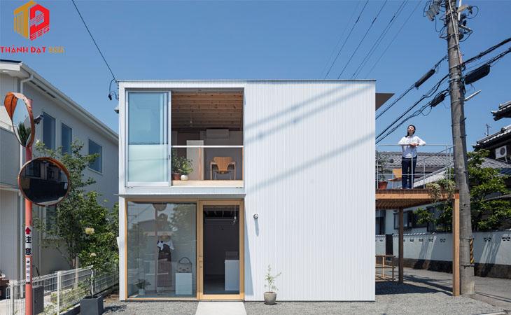 Mẫu thiết kế nhà vuông 2 tầng 70m2