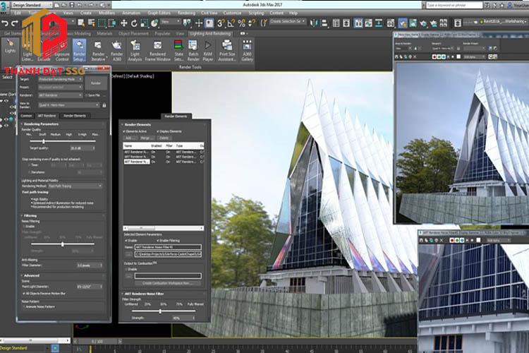 Phần mềm thiết kế nhà Autodesk 3Ds Max tạo mô hình 3D
